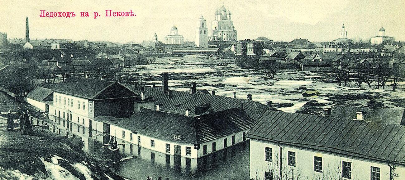 Псков на старых открытках